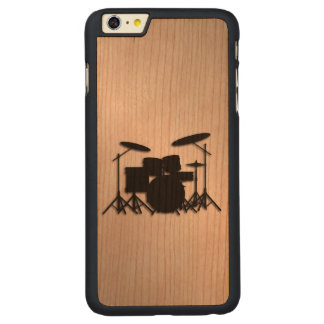 Capa Para iPhone 6 Plus De Cerejeira, Carved® Design ajustado da música do cilindro