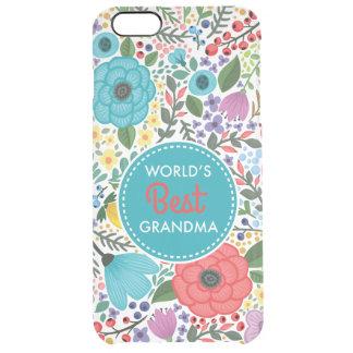 Capa Para iPhone 6 Plus Transparente A melhor avó do mundo