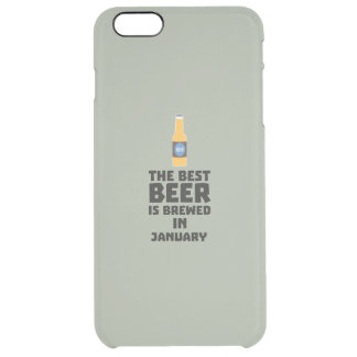 Capa Para iPhone 6 Plus Transparente A melhor cerveja é em maio Z96o7 fabricado cerveja