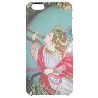 Capa Para iPhone 6 Plus Transparente Anjo do Natal - arte do Natal - decorações do anjo