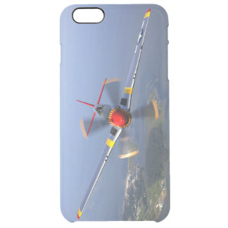 Capa Para iPhone 6 Plus Transparente Aviões de lutador do mustang P-51