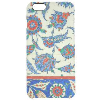 Capa Para iPhone 6 Plus Transparente Azulejo de Iznik, design floral turco