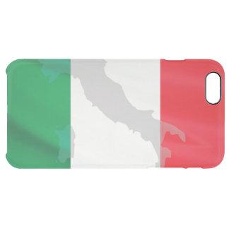 Capa Para iPhone 6 Plus Transparente bandeira e Italia italianas