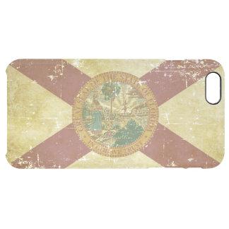 Capa Para iPhone 6 Plus Transparente Bandeira patriótica de papel gasta do estado de
