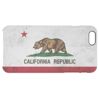 Capa Para iPhone 6 Plus Transparente Bandeira patriótica do estado de Califórnia do