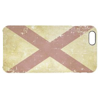 Capa Para iPhone 6 Plus Transparente Bandeira patriótica gasta do estado de Alabama