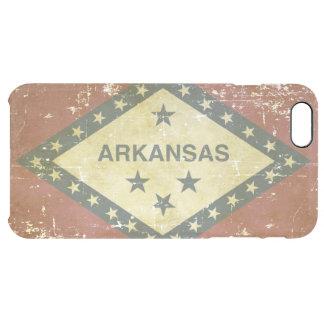 Capa Para iPhone 6 Plus Transparente Bandeira patriótica gasta do estado de Arkansas