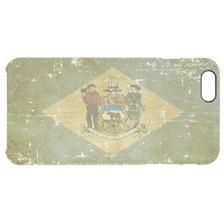 Capa Para iPhone 6 Plus Transparente Bandeira patriótica gasta do estado de Delaware