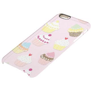 Capa Para iPhone 6 Plus Transparente Bolos do copo dos namorados do rosa de bebê