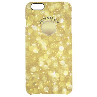 Capa Para iPhone 6 Plus Transparente Brilho moderno de Bokeh do ouro