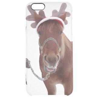 Capa Para iPhone 6 Plus Transparente Cervos do cavalo - cavalo do Natal - cavalo