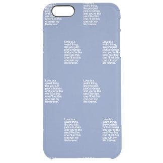 Capa Para iPhone 6 Plus Transparente Citações tristes do amor