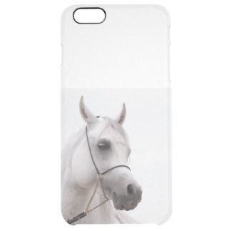 Capa Para iPhone 6 Plus Transparente coleção do cavalo. branco árabe