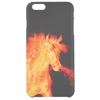 Capa Para iPhone 6 Plus Transparente coleção do cavalo. fogo