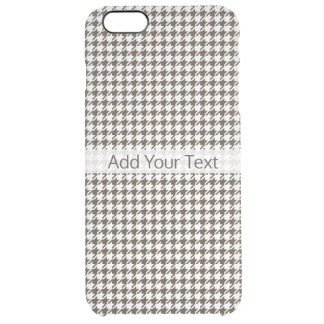 Capa Para iPhone 6 Plus Transparente Combinação Houndstooth de Brown por Shirley Taylor