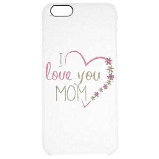 Capa Para iPhone 6 Plus Transparente Coração do dia das mães da mamã do amor