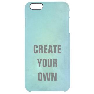 Capa Para iPhone 6 Plus Transparente Criar sua própria pintura da aguarela de turquesa