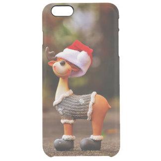 Capa Para iPhone 6 Plus Transparente Decorações da rena - rena do Natal