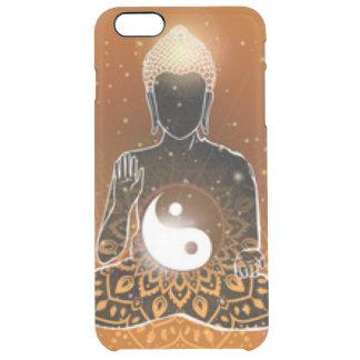 Capa Para iPhone 6 Plus Transparente Design de Ying Yang da meditação de Buddha