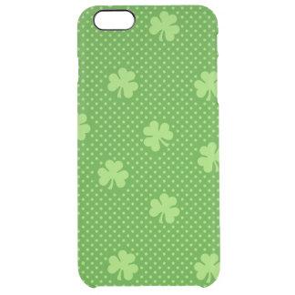 Capa Para iPhone 6 Plus Transparente Dia verde de Patricks do santo do teste padrão do