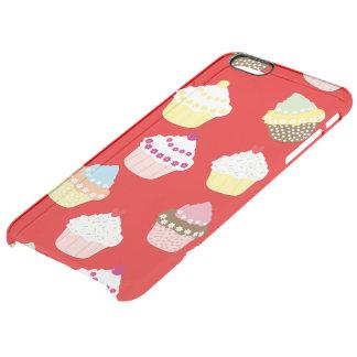 Capa Para iPhone 6 Plus Transparente Escuro - bolos vermelhos do copo dos namorados