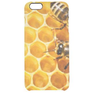 Capa Para iPhone 6 Plus Transparente Favo de mel e design do teste padrão das abelhas