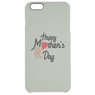 Capa Para iPhone 6 Plus Transparente Feliz dia das mães Zg6w3