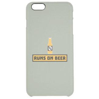 Capa Para iPhone 6 Plus Transparente Funcionamentos na cerveja Zmk10