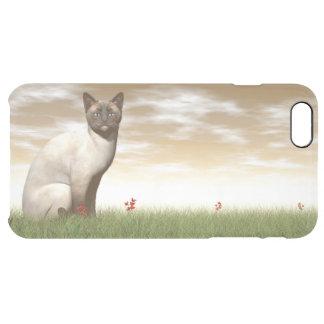 Capa Para iPhone 6 Plus Transparente Gato Siamese