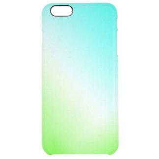 Capa Para iPhone 6 Plus Transparente Gelo azul e verde claro!