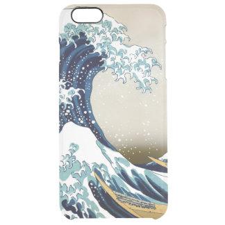 Capa Para iPhone 6 Plus Transparente Grande onda restaurada fora de Kanagawa por