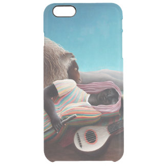 Capa Para iPhone 6 Plus Transparente Henri Rousseau o vintage aciganado do sono