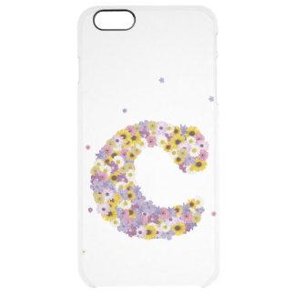 Capa Para iPhone 6 Plus Transparente letra inicial C