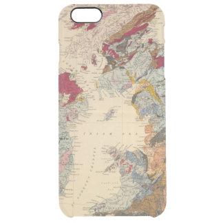 Capa Para iPhone 6 Plus Transparente Mapa Geological, ilhas britânicas