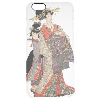 Capa Para iPhone 6 Plus Transparente Mulher no quimono colorido (impressão do japonês