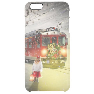 Capa Para iPhone 6 Plus Transparente O papai noel expresso do Pólo Norte - trem do