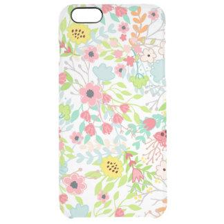 Capa Para iPhone 6 Plus Transparente O primavera bonito floresce o teste padrão floral