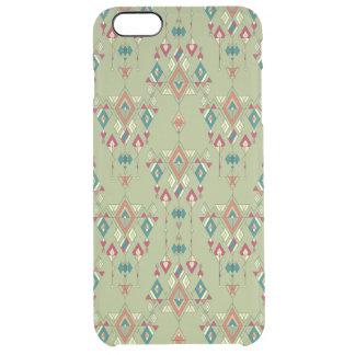 Capa Para iPhone 6 Plus Transparente Ornamento asteca tribal étnico do vintage