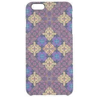 Capa Para iPhone 6 Plus Transparente Ornamento de talavera do mosaico do vintage