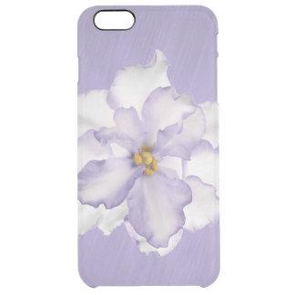 Capa Para iPhone 6 Plus Transparente Orquídea bonita da lavanda