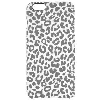 Capa Para iPhone 6 Plus Transparente Padrões pretos & brancos da pele animal do