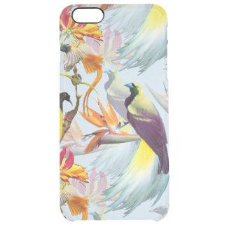 Capa Para iPhone 6 Plus Transparente Pássaros de paraíso exóticos e de aguarela das