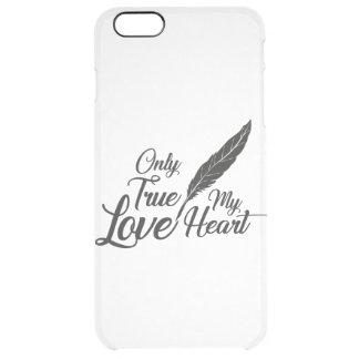 Capa Para iPhone 6 Plus Transparente Pena verdadeira do amor da ilustração