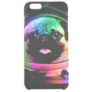 Capa Para iPhone 6 Plus Transparente Pug do astronauta - pug da galáxia - espaço do pug