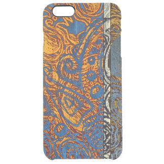 Capa Para iPhone 6 Plus Transparente Redemoinho azul de Jean de três tons