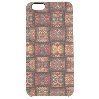 Capa Para iPhone 6 Plus Transparente Retalhos do vintage com elementos florais da