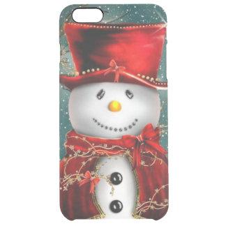 Capa Para iPhone 6 Plus Transparente Snowmans bonitos - ilustração do boneco de neve