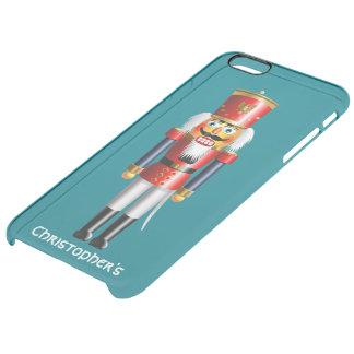 Capa Para iPhone 6 Plus Transparente Soldado do Nutcracker do Xmas no uniforme vermelho