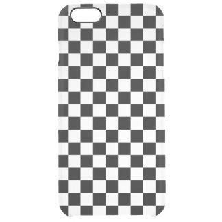 Capa Para iPhone 6 Plus Transparente Tabuleiro de damas preto e branco