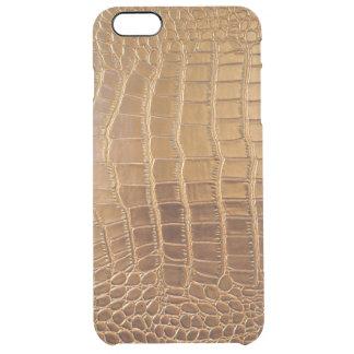 Capa Para iPhone 6 Plus Transparente Teste padrão da pele animal do couro do crocodilo
